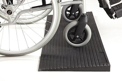 The Ramp People TRP40RMP Rubber Threshold Wheelchair Scooter Kerb Ramp (40mm high x 400mm Long x 1000mm Wide 8.10kg)