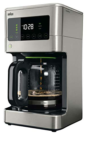 Braun KF7370SI Braun BrewSense Touch Screen Coffee Maker KF7370SI, 12 cup, , Stainless Steel
