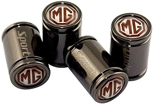 4Pcs Auto Rueda NeumáTico VáLvula Tapa para MG TF ZR Morris 3 MG3 MG5 MG6 MG7, Coche Anti-Polvo Anti corrosión Herméticas Vástago Cubierta con Logo Accesorios