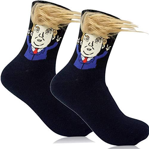 Trump Socks - The Original Donald Trump Socks Realistic Hair Gift Novelty President 2020 Hair - 1 Pair
