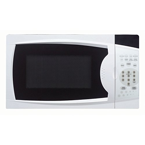 Magic Chef 0.7 Cu. Ft. 700W Oven in White Countertop Microwave. 7