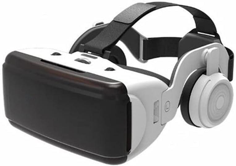 ZNBJJWCP Original VR Virtual Reality 3D Glasses Box Stereo VR Google Cardboard Headset Helmet for Smartphone,Bluetooth Rocker (Color : Nano-Coating Myth Version)