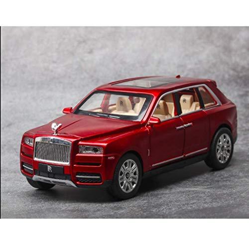 LIUCHANG Coche Modelo 1:24 Rolls-Royce Cullinan Modelo de simulación de Efectos de iluminación de Sonido del Coche Tire hacia atrás Función Off-Road Modelo de Coche de la decoración Col