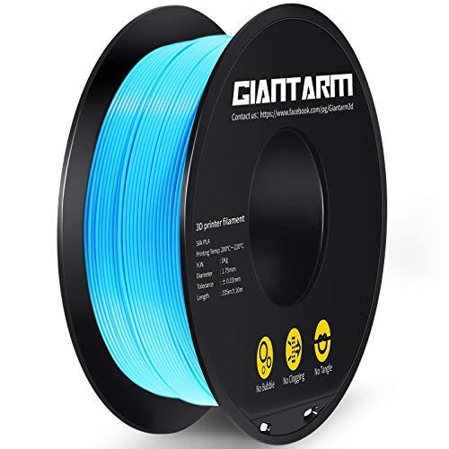 GIANTARM - Filamento PLA para impresora 3D, 1,75 mm, 1 kg, color azul…