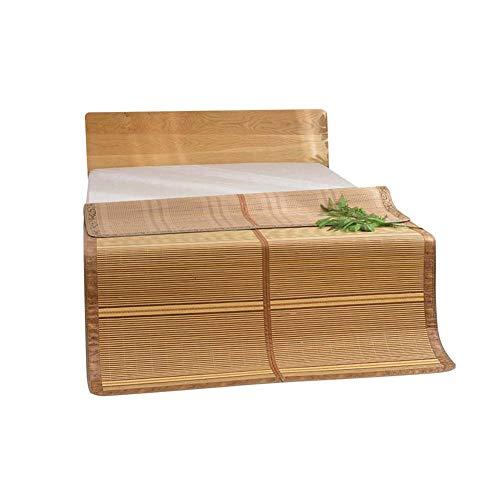 AGLZWY Sommer Schlafmatte Bambus-Kühlmatte Matratze Karbonisiert Kühlen Glatt Faltbar Fürs Bett Student Wohnheim Schlafzimmer,Braun ,5 Größen (Color : Brown, Size : 180x198cm)