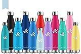 KollyKolla Botella de Agua Acero Inoxidable, Termo Sin BPA Ecológica, Botellas Termica...