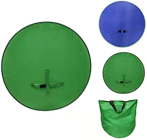 HHYSPA Backdrop Boards Photography - 2 in 1 Collapsible Reversible Background Panel Green Blue Backdrop Background Screen Portable 4.65ft,for Photo Video Studio Blue+Green