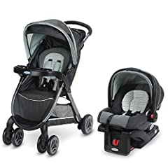 Travel system with SnugRide Click Connect 30 Infant Car Seat Stroller with one second, one hand fold Multi position reclining seat for baby's comfort Stroller: For child up to 50 lbs; Infant car seat: Rear facing for infants 4 to 30 pounds and up to ...