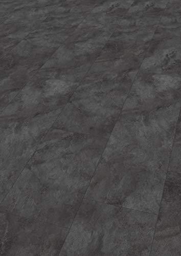 EGGER Home Laminat dunkel grau / anthrazit Steinoptik - Schiefer León  EHL005 (8mm, 2,533 m²) Klick Laminatboden | Bodenbelag Schiefer im Fliesenformat