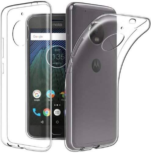 CaseRepublic Transparent Back Cover for Motorola Moto E4 Pl