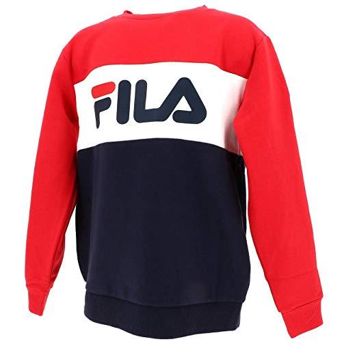 Fila 687194 Kids Blocked Crew Felpa Unisex Ragazzi Multicolor 6Y