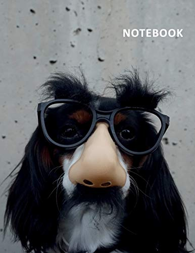 College Ruled Notebook: Dog disguise Elegant Composition Book Daily Journal Notepad Diary for researching dog dress up outfits