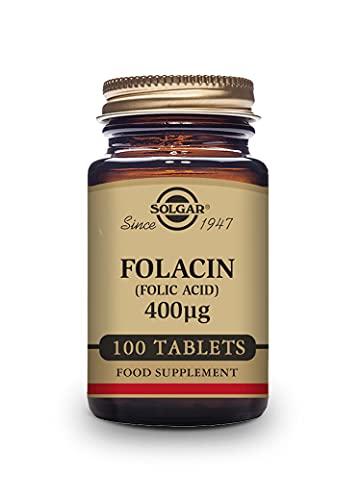 Solgar | Folacín Ácido Fólico 400 µg | Vitamina B9 | Especial Embarazo | 100 Comprimidos