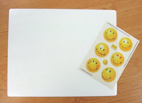 Schreibtischunterlage transparent klein zum Selbstgestalten 42 x 30 cm abwischbar
