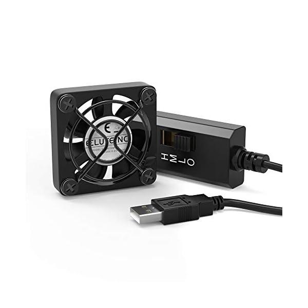ELUTENG 40mm USB Fan with 3 Speed Control / 120mm USB Ventilator 5V Max 5300RPM High...