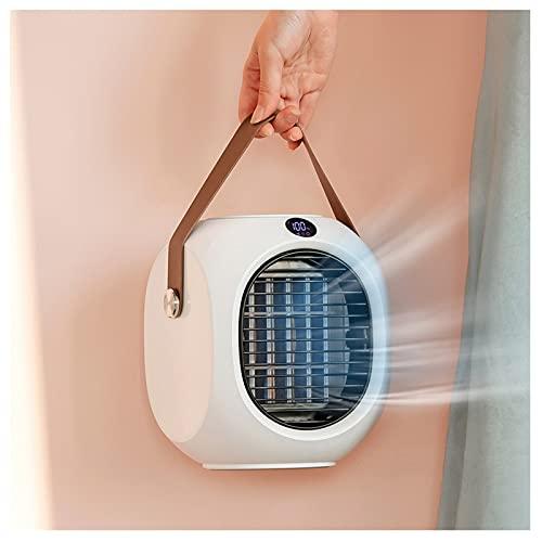 Tingting1992 Ventilador Refrigerador de Aire portátil Smart Pantalla evaporativa 120 ° Swing 8h Humidificación, 3 velocidades Refrigerador de Aire evaporativo for Dormitorio, Oficina