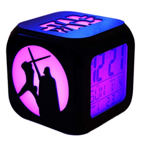 HMHM Star Wars 3D Stereo Alarm Clock Mute LED Night Light Electronic Seven Color Alarm Clock - USB Charging