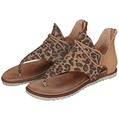 Yesgirl Sandalias Mujeres Verano Romana Planos Moda Bohemia Casual Elegante Peep Toe Shoes Zapatos De Playa Sandals Cuña Peep Toe Peep Toe