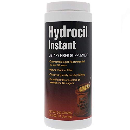 Hydrocil Dietary Fiber Supplement 10.6 Ounce, Dietary Fiber Supplement, Dissolves Instantly, No Sugar No Artificial Flavors No Artificial Colors