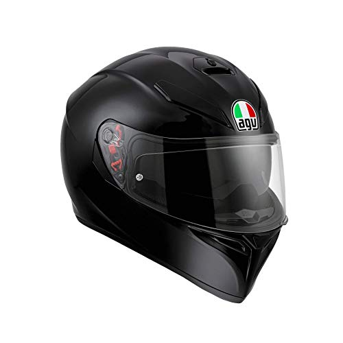 AGV K3 SV Solid Casco Moto Integral, Hombre, Negro, ML