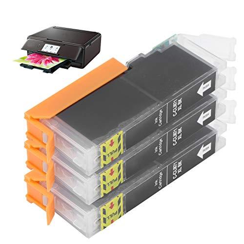 Cartucho de tinta, cartucho de tinta para Canon Imprima claramente para la mayoría de las personas para impresoras Canon Adecuado para hogares, empresas, escuelas, hospitales(black, Polar Animals)