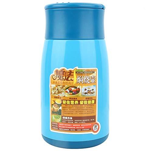 Leku Taza - 800ML 304 Envase de Comida de Acero Inoxidable Fiambrera al vacío Tarro térmico Taza aislada(Blue)