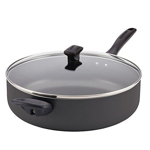 Farberware 21981 Dishwasher Safe Nonstick  Jumbo Cooker/Saute Pan with Helper Handle - 6 Quart, Black