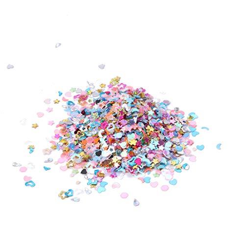 5000 pièce bricolage mixte plastique Glitter Coeur étoile Nail Art Décoration