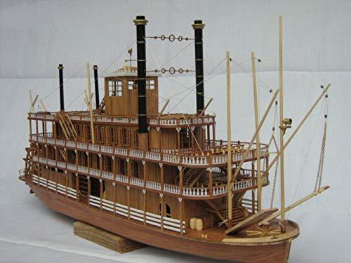 XJJSZJ Barco de Madera 1/100 Barco de Vapor de Madera USS