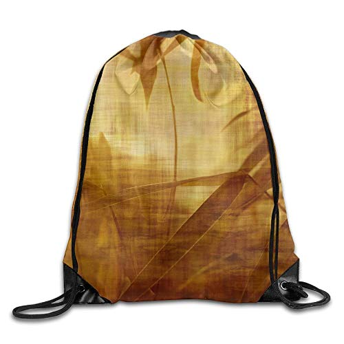 Etryrt Zaino con Coulisse,Borse Sacca,Sacchetto Bamboo Tree Leaves Unisex Home Rucksack Shoulder Bag Travel Drawstring Backpack Bag