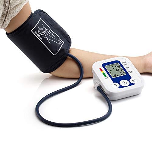 Bloeddrukmeter Voor Bovenarm Nauwkeurige Automatische Digitale Bloeddrukmeter Voor Thuisgebruik Hartslagmeter Met Manchet LCD-Achtergrondverlichting,White 1