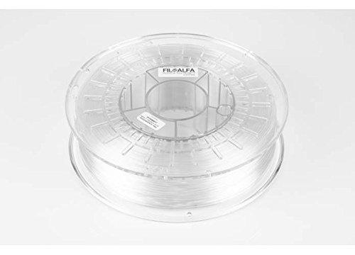 Filamento FiloAlfa 1.75mm, PETG TRASPARENTE, 700g