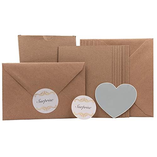 8 Grußkarten und 8 Rubbelaufkleber mit Umschlägen und Sticker DIY Gutscheine Muttertag Geburtstag selbst gestalten