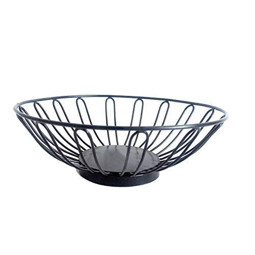 NIRMAN Rustic Fruit Bowl, Basket Holder for Kitchen Counters,Table Centerpiece, Party, Holiday Decoration, Unique Round Shape Bowl Basket (25.4cm x 25.4cm x 8.89cm)