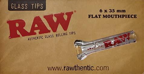 RAW Lot de 12 faux ongles en verre avec embout plat