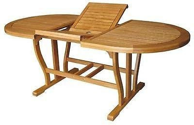 Bizzotto Table Noemi en bois ovale extensible 150-200 x 90