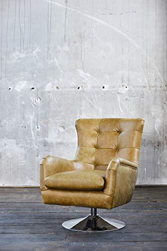 KAWOLA Sessel Relexa Ledersessel olivgrün Chefsessel Leder Vintage Sessel Einsitzer Echtleder B/H/T: 69x77x95cm
