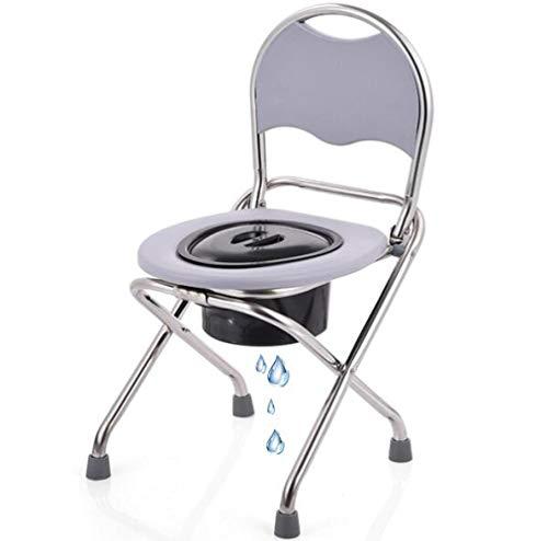 LQ&XL Toilettenstuhl, Klappbarer, Tragbare Nachttoilette FüR Erwachsene, Stuhl FüR Schwangere Zu Hause, Mob
