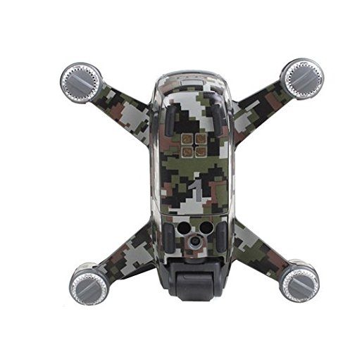 CS PRIORITY Drone Body Luxury Carbon Fiber Skin Wrap Waterproof Stickers Decal For DJI SPARK Camouflage