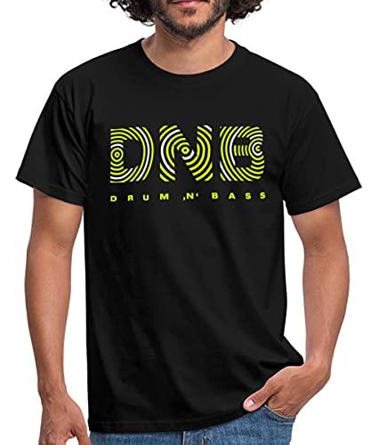 Spreadshirt Drum and Bass DNB Männer T-Shirt, XL, Schwarz