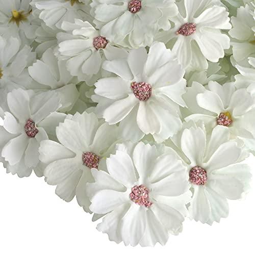 AIBAOBAO fiori artificiali Daisy Flower Heads 50Pcs, fatti a mano piccolo fiore di seta falso Gerbera petali in massa per fai da te, casa, matrimonio, corona, corsage, decorazione del partito (15)
