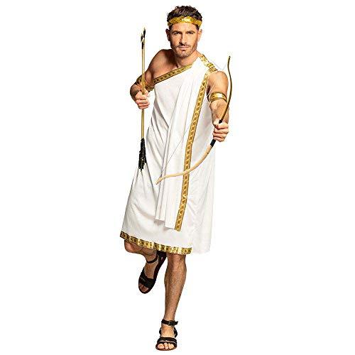 Boland-29812 Disfraz de Dios del Olimpo para Adulto, Color Blanco/Dorado, M/L (Ciao SRL 29812)
