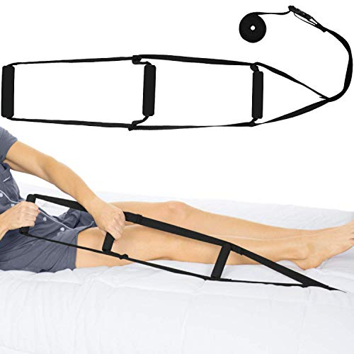 Vive Bed Ladder Assist - Pull Up Assist Device with Handle Strap - Rope Ladder Caddie Helper - Sitting, Sit Up Hoist for Elderly, Senior, Injury Recovery Patient, Pregnant, Handicap - Padded Hand Grip