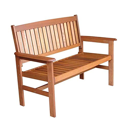 Tropicana Two Seat Wooden Bench, Weatherproof Hardwood Garden Bench Seats For 2 People, Outdoor Wood Garden Furniture, Patio Bench