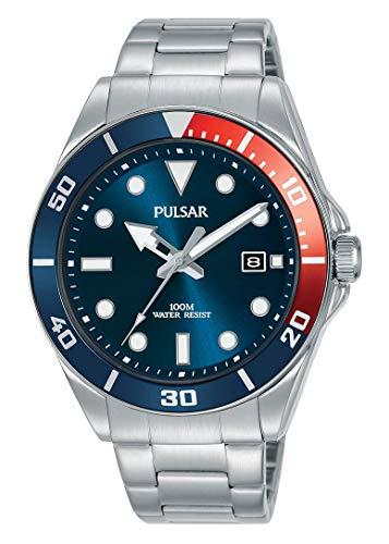 Seiko UK Limited - EU Heren Analoog Japanse Quartz Pulsar Diver-Geïnspireerd Jurk Horloge met RVS Armband met RVS Band PG8291X1