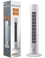 DUTCH ORIGINALS Torenventilator met regelknop, 50W, 3 snelheden, Stille oscillerende kolom, Airconditioning, Slaapkamer, Woonkamer