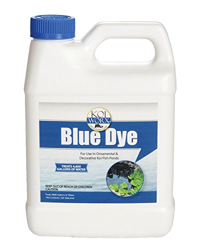 Sanco Industries KoiWorx Blue Dye - Ornamental and Decorative Pond Dye, Water Features and Fountains, Safe for Koi - 1 Quart