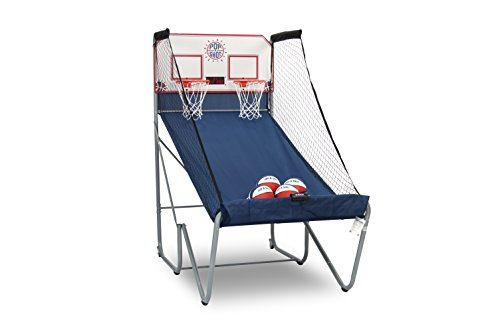 Pop-A-Shot New Official Home Dual Shot Basketball Arcade Game  16 Individual Games  Durable Construction  Near 100% Scoring Accuracy  Multiple Height Settings  Large LED Scoring System