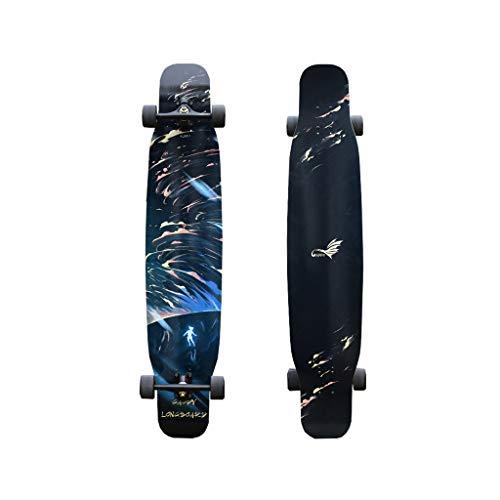 HXGL-Skateboards Longboard Jungen und Mädchen Anfänger Professionelle Pinsel Street Dance Board Tanzen Flat Flower Board Skateboard - Tornado (Color : Soft Section)