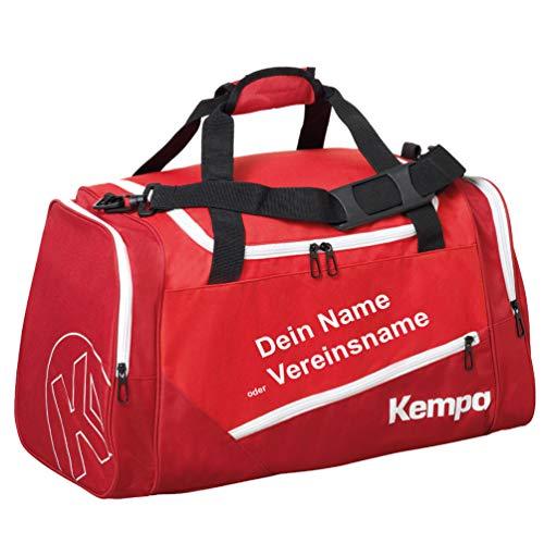 Kempa Sporttasche 56 x 27 x 32 cm 50 Liter rot + Aufdruck Name o. Vereinsname